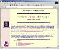 Voices from the Gaps